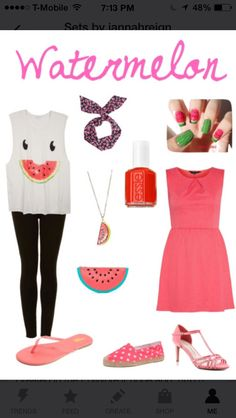 Watermelon. Hey guys it's me Jannah I make outfits and I love making them but I need suggestions from you guys. So I would really appreciate if you could send me suggestions. Bye luv ya be fabulous. Ps. follow me.