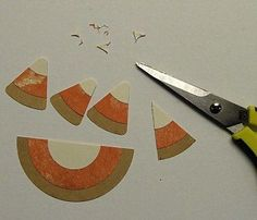 Simple Fall and Halloween Scrapbook Page Embellishments - Candy Corn