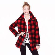 Buffalo plaid hunter jacket from j crew. Buffalo Plaid, Plaid Coat, Plaid Jacket, Material Girls, Outerwear Women, Autumn Winter Fashion, Fall Fashion, Fall Winter, Fashion Tips