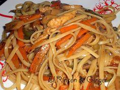 El rincón de Ginger: Tallarines con chop suey de pollo