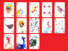 A set of cards inspired from the nature – flowers, insects, birds and fish. Published by U.S. Game, Inc. http://www.yiyinglu.com/?portfolio=natural-symphony-playing-cards