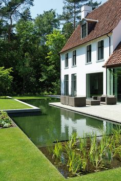 garden design - 60 luxurious swimming pool designs to revitalize your eyes that need peace page 48 Outdoor Pool, Outdoor Gardens, Outdoor Spaces, Outdoor Living, Natural Pond, Natural Swimming Pools, Swimming Pool Designs, Cool Pools, Water Features