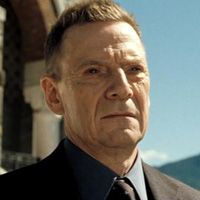 Mr. White From: Casino Royale and Quantum Of Solace. I was So Hoping That He Was The New Head Of SPECTRE, Oh Well.