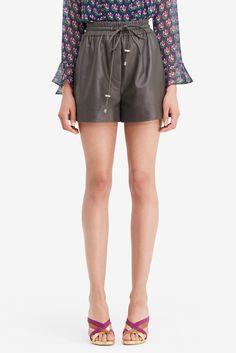 DVF Fontana Leather Short