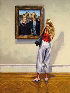 """A Painting Today: """"A Casual Look"""" Karin Jurick"""