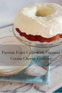 Passion Fruit Cake with Coconut Cream Cheese Frosting