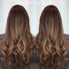 Shadowed brunette roots and caramel hints of balayage. Hair Color And Cut, Hair Colour, Level 5 Hair Color, Hair Day, Ombre Hair, Gorgeous Hair, Beautiful, Pretty Hairstyles, Curly Hairstyles