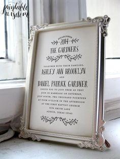 Printable Wedding Invitation Suite Rustic  wedding invite vintage style, hand written wedding invitation card DIY digital invitation set on Etsy, $45.00
