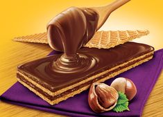 Wafer 2 on Behance Chocolate Spread, Chocolate Dipped, Pistachio Butter, Blender Tutorial, Group Meals, Food Groups, Food Painting, Chocolate Packaging, Food Packaging Design