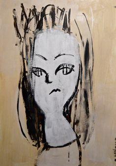 Samantha #contemporaryart #pop #modern #comic #art #portrait #painting #expressionism #minimalism #catgirl #figurative