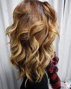 Caramel+And+Blonde+Balayage+Hair