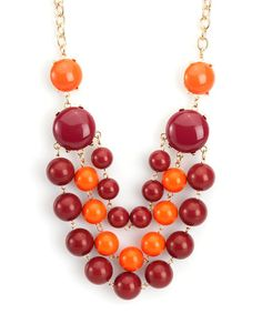 Loving this Maroon & Orange La Ti Dottie Necklace on #zulily! #zulilyfinds