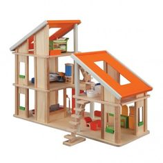 Chalet Dollhouse With Furniture - Plan Toys - Via Smallable
