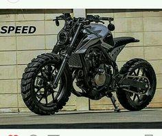 Honda Street Tracker by K- Speed Motorcycles Moto Cafe, Cafe Bike, Cafe Racer Bikes, Cafe Racers, Retro Bikes, Bobber Custom, Custom Bikes, Custom Street Bikes, Honda Cb300r