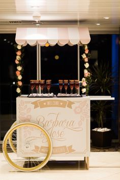 Champagne cart: http://www.stylemepretty.com/little-black-book-blog/2015/04/20/romantic-land-to-sea-destination-wedding/ | Photography: Branco Prata - http://www.brancoprata.com/