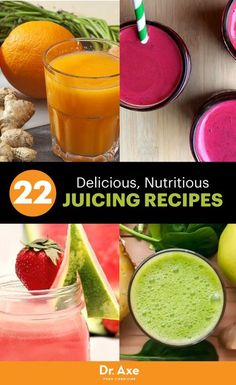 Healthy Smoothies Recipe 22 Healthy, Homemade and Delicious Juicing Recipes - Do you love juice but struggle with finding the healthiest kinds? Do it yourself and trying these 22 delicious, nutritious juicing recipes. Green Juice Recipes, Healthy Juice Recipes, Best Smoothie Recipes, Juicer Recipes, Healthy Juices, Detox Recipes, Detox Juices, Healthy Juice Drinks, Detox Tips