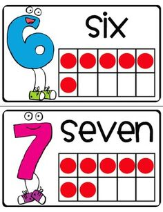 Kindergarten Common Core- (math common core) This is both math and language arts because it has the number, word, and manipulative in order for the kids to learn the look of the number from all perspective. I would have these to at least number twenty.