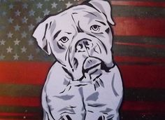 American Bulldog Card - art greeting card, high quality print, blank 5 x 7 on Etsy, $4.50
