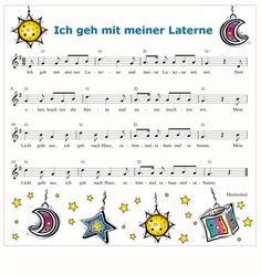 Ich geh mit meiner Laterne - German song which is sung each year the November (St. Martin Von Tours, Kindergarten Songs, Kalimba, Chris Tomlin, Saint Martin, A Day To Remember, Kids Songs, Ukulele, Childhood Memories