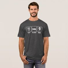 Eat Sleep BBQ T-Shirt - click/tap to personalize and buy