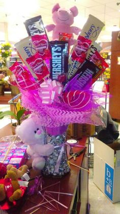 Valentines candy arrangement