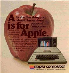 Vintage Apple Computer ad from 1978 Apple Advertising, Retro Advertising, Retro Ads, Vintage Advertisements, Vintage Ads, Vintage Posters, Funny Vintage, Apple Tv, Computer Photo