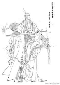 #二十八星宿神將譜-中央鈞天 亢金龍 by  #薩菲珥