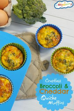 Need a good grab-and-go breakfast? These crustless broccoli and cheddar quiche muffins are the perfect thing!