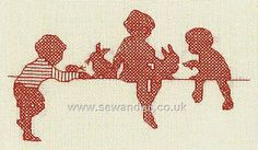 Buy Pets Galore Redwork Embroidery Kit Online at www.sewandso.co.uk
