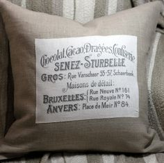 French Chocolate 18 Linen Throw Pillow Cover by KindredSpiritHome, $30.00