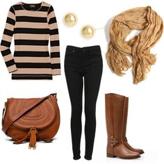 Fall outfit. Cute!