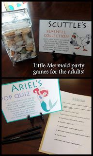 Little Mermaid Birthday Party - games for older kids and adults!