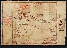 Poster Mapa Montaña Solitaria El Hobbit | Carteles de Cine y Posters