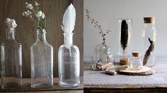 Las piezas de cristal pueden dar un toque especial en nuestra decoración. Probad a rellenarlas con arena de playa, velas, hojas aromáticas, flores o incluso con ovillos de lana de colores #decotruco