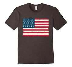 American Flag T-Shirt 4th July Red White Blue Stars Stripes