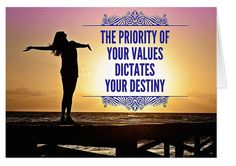 """Someone else said it this way: """"If you what to know what your future holds - create it!"""" My experience has revealed that whatever we hold as precious and valuable, we tend to get more of. Do you know what your values are?"""