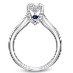 engagement ring with a hidden sapphire