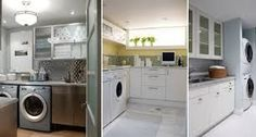 A laundry room in the basement creates a perfect place to iron, wash and dry your clothes or handle your hand-washables Tags: basement laundry room ideas, basement laundry room remodel, basement laundry room makeovers, basement laundry room cabinets