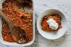 Carrot Cake Oatmeal with Coconut Whip — Local Haven