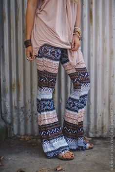Tribal Flared Stretch Pants