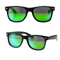 a948fbe07 MJ Boutique's Black Wayfarer Sunglasses - Green Reflective Mirror Lens MJ  Boutique,http:/
