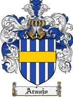 Araujo Coat of Arms / Family Crest Downloadable JPG $7.75