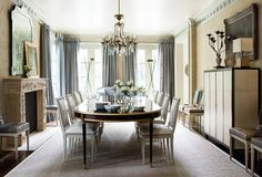 Decor Inspiration: At home With Suzanne Kasler in Atlanta {Cool Chic Style Fashion} Elegant Dining Room, Dining Room Design, Dining Rooms, Dining Set, Fine Dining, Dining Table, Home Staging, Formal Living Rooms, Living Room Decor