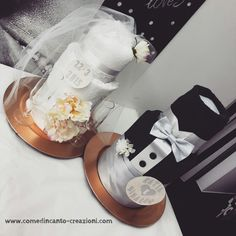 Wedding towel cake - torta asciugamani sposini - idea regalo matrimonio - come d'incanto - carlinifd