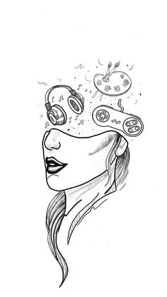 Space Drawings, Cool Art Drawings, Pencil Art Drawings, Art Drawings Sketches, Doodle Drawings, Easy Drawings, Doodle Art, Aesthetic Drawing, Aesthetic Art