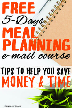 Would you like to provide your family with home-cooked meal every night of the week? Do you feel like you're wasting food? Sign up for this 5-day FREE meal planning Course and learn how to stop stressing about the question ''What's for Dinner?''   #mealplanning #freemealplanningcourse #mealplanningcourse #stopwastionfood #emailcourse #free   simplyanchy.com 5 Day Meal Plan, Meal Prep, Easy Weeknight Meals, Easy Meals, How To Stop Stress, Meal Planning Board, Food Signs, Free Meal, Do You Feel