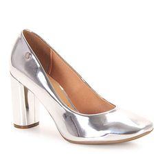 Sapato Salto Feminino Vizzano - Prata