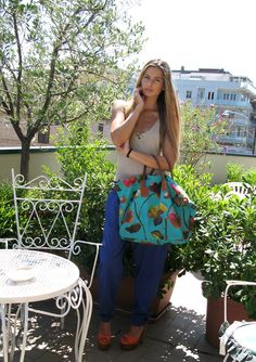 Evelina Mucerscaia with Robertina Flower Bermuda Green XT