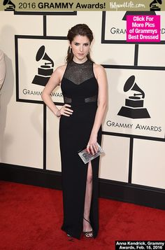 Anna Kendrick Wows In Sultry & Sparkling Black Gown At...: Anna Kendrick Wows In Sultry & Sparkling Black Gown At Grammys… #AnnaKendrick