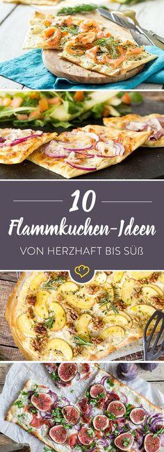 Von herzhaft bis süß: 10 knusprige Flammkuchen-Lieblinge